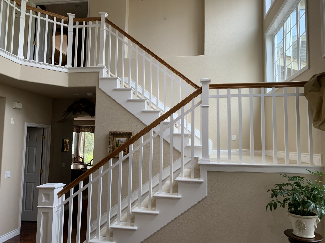 interior paint job walls and handrails