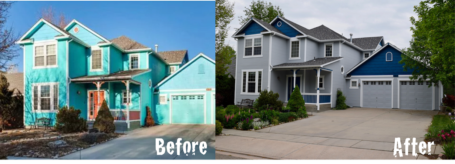 Painting the Exterior of your home, before and after
