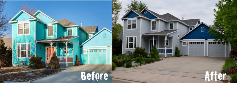 1317 Washburn before and after